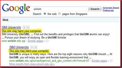 UniSIM Google