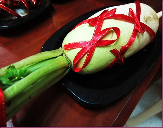 chinese new year lucky radish