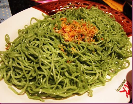 MK Restaurant green tea noodles