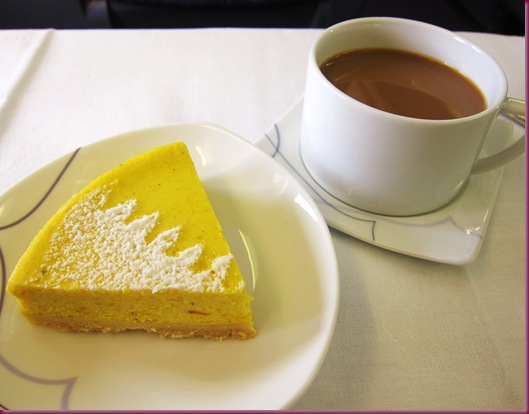 thai airways inflight meal pumpkin pie