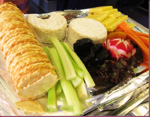 thai airways inflight meal cheese tray