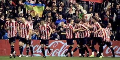 El Athletic de Bilbao celebra el gol del triunfo sobre Real Madrid