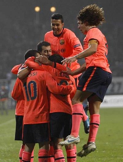 Barcelona gans en Kiev al Dinamo