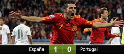 España clasifica a cuartos de final al vencer 1-0 a Portugal