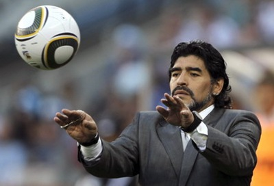 Diego Aramndo Maradona, DT de Argentina