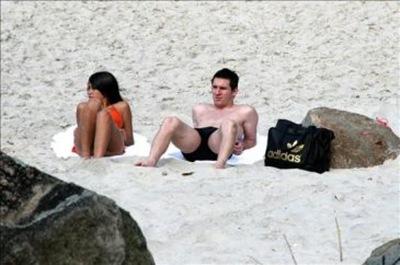 Lionel Messi y su novia Antonella