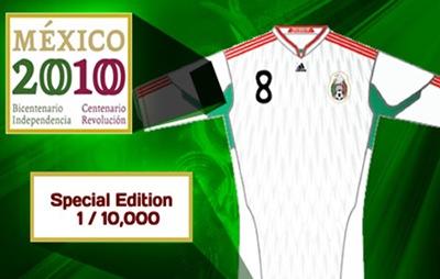 Camiseta oficial de México para el Bicentenario