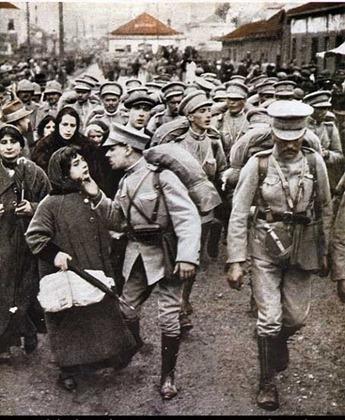 Grande Guerra, partida do contingente
