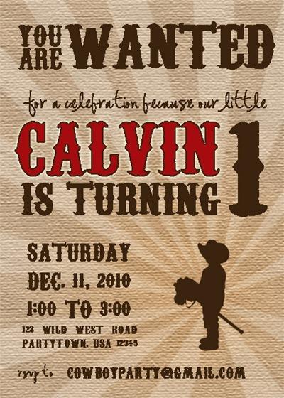 Calvin Party Invitation Blog