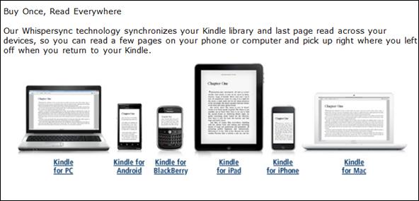 Rodina čteček Kindle co by se měla pěkně synchronizovat