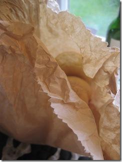 En brun papperspåse...