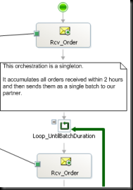 Example of inline annotation in orchestration
