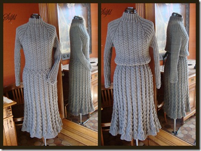Graues Strickkleid