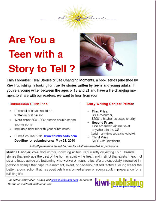 a teen with a story