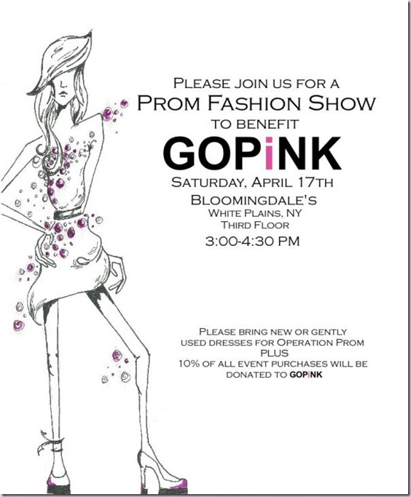 Prom Fashion Show invite