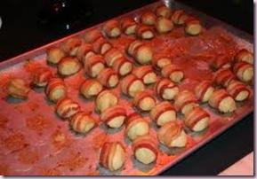 bacon wrapped matzoh Balls