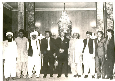 Gul Khan Nasir with Zahir Shah in Afghanistan