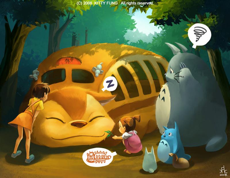 Wake up! (Totoro Fanart)