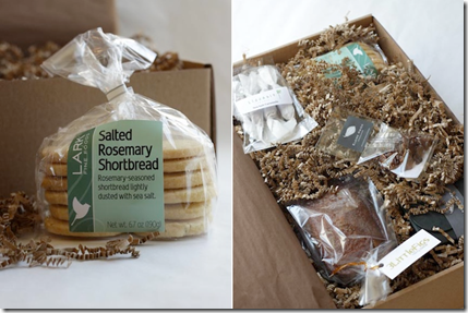 Goodies from Eat Boutique's Spring Handmade Food Gift Box.