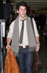 Semi-Exclusive: Nick Jonas Catching A Flight At LAX