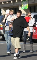 IMAGE ID # 1850178 Exclusive...Britney Spears has never liked being single, but it's been harder than ever for her lately. Desperate for a love of her own, she's had to endure watching ex-husband Kevin Federline flaunt his new romance with Victoria Prince, a stunning 6-foot-tall blond volleyball player.<br /> <br /> Federline and Prince were seen taking a family weekend away in the snowy mountains of northern California the weekend of January 17th, 2009. The couple brought along all four of Kevin's children, the older two that he fathered with Shar Jackson, as well as Sean Preston and Jayden James, the two beloved sons of Britney Spears. The group stopped off at the home of Kevin's parents on their way up north, and Victoria made the all important step of meeting the family. The entire clan later headed up to a secluded mountainside cabin in the woods. While enjoying the great snowy outdoors, Victoria was seen carrying one of Britney's sons almost all the time, seeming quite affectionate and close with each of the boys. One can only imagine how much this must hurt Britney, after losing custody of the children she loves so dearly.<br /> <br /> More exclusive details to follow tomorrow in the new issue of Life & Style!<br /> <br /> <br />  <br />  01/29/2009 --- Jayden James Federline, Sean Preston Federline, Victoria Prince, Kevin Federline --- (C) 2009 Fame Pictures, Inc. - Santa Monica, CA, U.S.A - 310-395-0500 / Sales: 310-395-0500