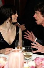 Rachel Weisz con Mick Jagger