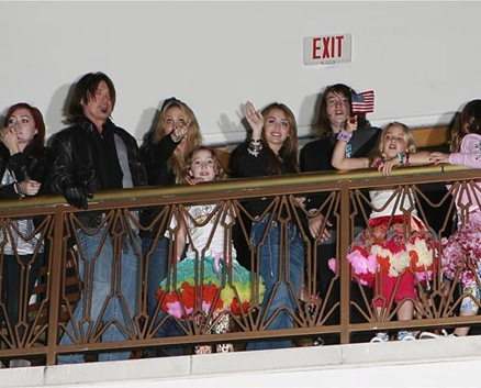 Miley Cyrus and Family Watching Her Little Sisters Concert In Ci