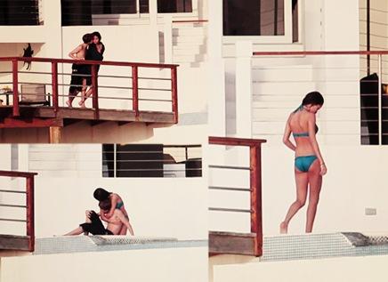 Justin Bieber besando a Selena Gomez