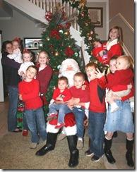 santa and kids 2009