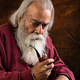 Gloomy by Rakesh Syal - People Portraits of Men