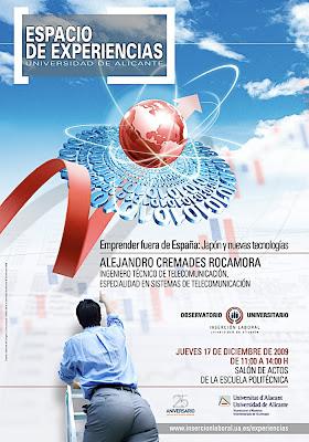 Conferencia Espacio de Experiencias Alejandro Cremades Rocamora Emprender fuera de España Japón y nuevas tecnologías