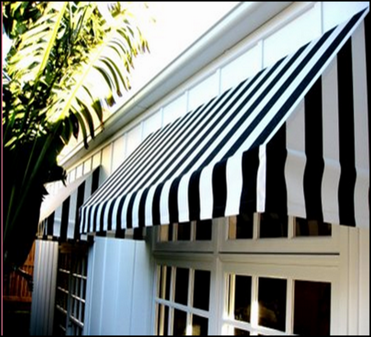 blk and wht awning
