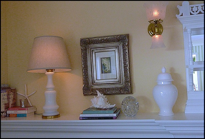 Summer mantle in white 008