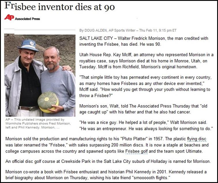 Frisbee Inventor