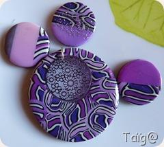 Perles cervelle violettes avant montage - Fév 2010