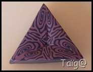 Cane kaléidoscope violets avant réduction