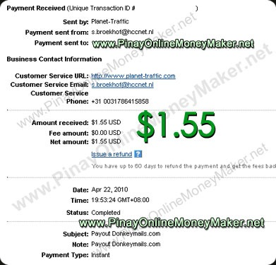 Donkeymails Payment Proof 4.22.2010