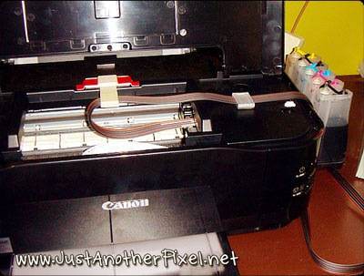 Printer converted to CISS