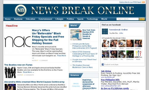 News Break Online - Latest and hottest news online! - JustAnotherPixel.net