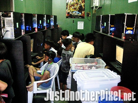 Kids at my computer shop - JustAnotherPixel.net