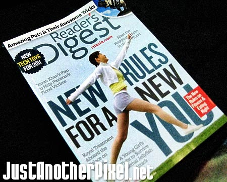 My first edition of Reader's Digest Asia 2011 - JustAnotherPixel.net