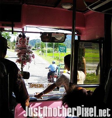 The pink bus going to Pagudpud, Ilocos Norte - JustAnotherPixel.net
