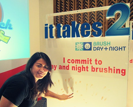 Me taking my oath to brushing day and night in support of the It Takes 2 campaign to fight cavities - JustAnotherPixel.net.jp