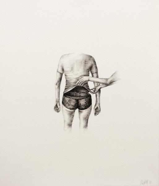 Histoire à compléter (2010)Fusain sur papier - Charcoal on paper28 x 33 cm - 11x13 in.