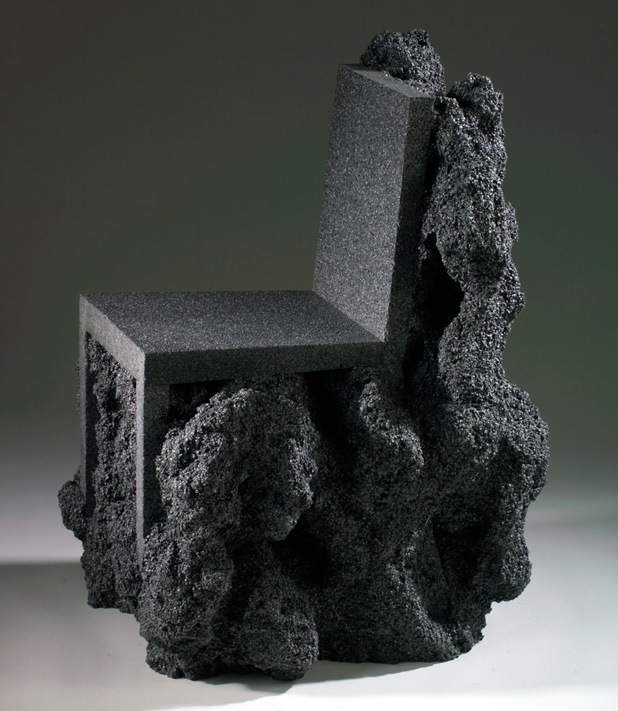 volcanic rock chair by ian blasco