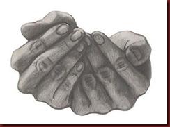 maos que pontilham as frases com gestos