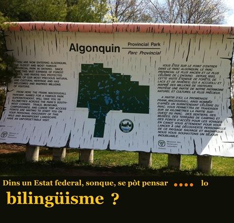 Parc d'Algonquin un paradis bilingue sur terre...