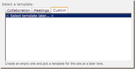 sharepoint 2010 training site template