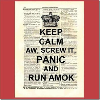 keep calm panic
