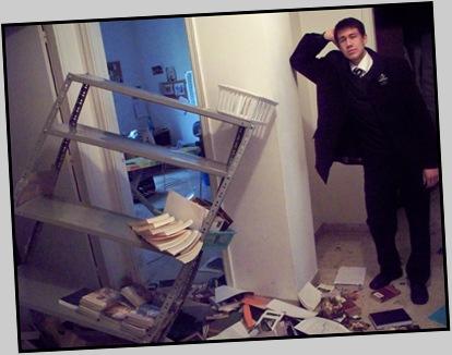 Broken Bookshelf